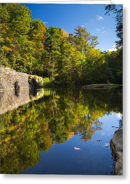 Reflections Of Autumn Greeting Card by Shane Holsclaw