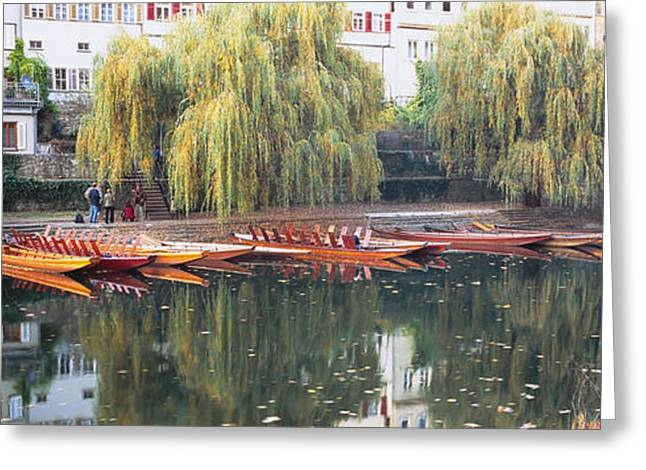 T Travel Greeting Cards - Reflection Of Buildings And Trees On Greeting Card by Panoramic Images