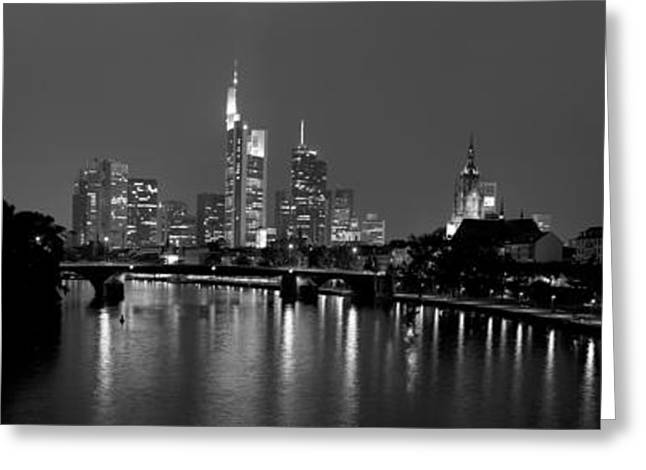 White River Scene Greeting Cards - Reflection Of Buildings In Water, Main Greeting Card by Panoramic Images