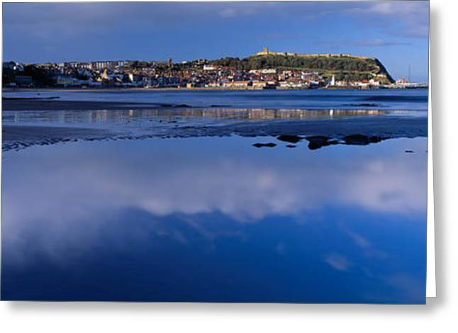 Scarborough Greeting Cards - Reflection Of Cloud In Water Greeting Card by Panoramic Images