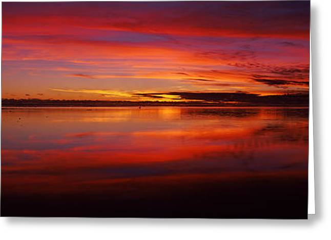 Ocean Photography Greeting Cards - Reflection Of Clouds In Water Greeting Card by Panoramic Images