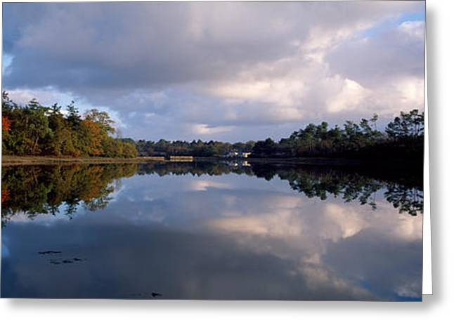 Reflections In River Greeting Cards - Reflection Of Clouds On Water, Crach Greeting Card by Panoramic Images