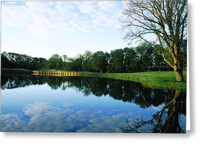 Urban Images Greeting Cards - Reflection Of Clouds On Water Greeting Card by Panoramic Images