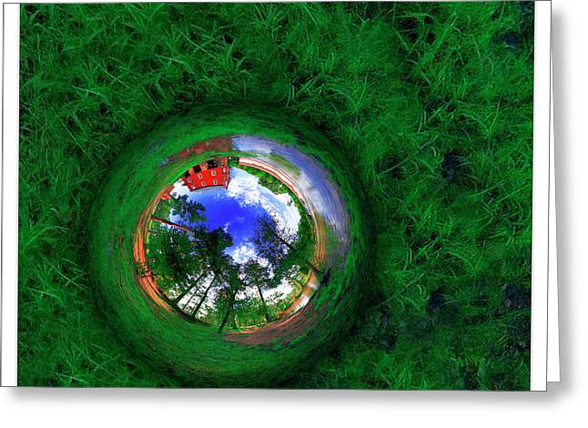 Lar Matre Greeting Cards - Reflection of Mill Greeting Card by Lar Matre