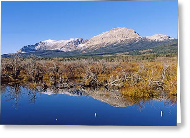 Reflections In River Greeting Cards - Reflection Of Mountains In Water, Milk Greeting Card by Panoramic Images
