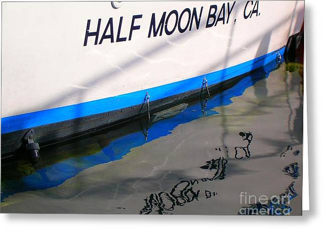 Half Moon Bay Greeting Cards - Reflection of my World Greeting Card by Bill Wagner