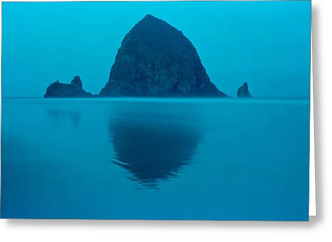 Stacked Rocks Greeting Cards - Reflection Of Rock In Water, Haystack Greeting Card by Panoramic Images