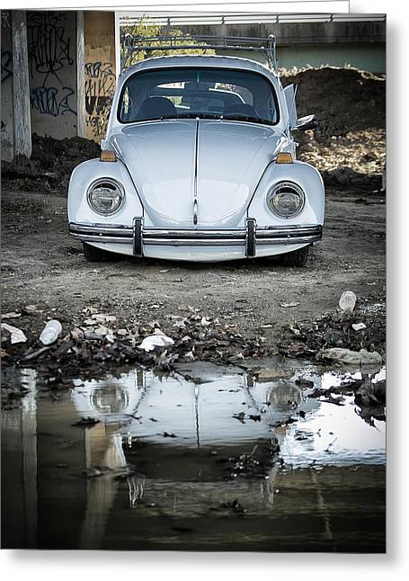 Vw Beetle Greeting Cards - Reflection of the Beetle Greeting Card by Scott  Wyatt