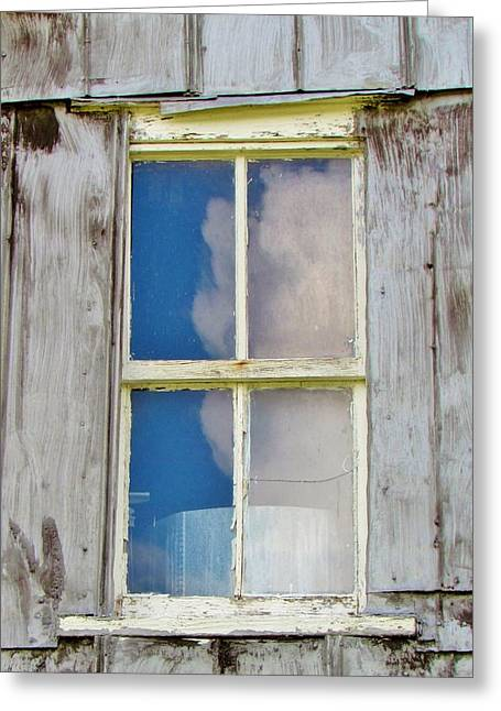Shed Digital Art Greeting Cards - Reflection Of The Sky Greeting Card by Cynthia Guinn