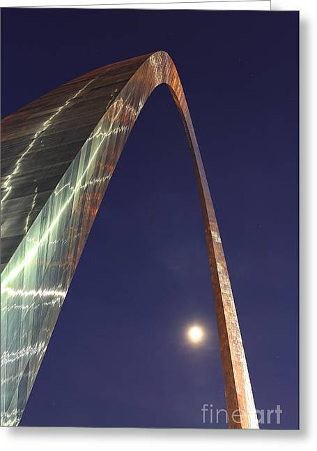 Jefferson National Expansion Memorial Greeting Cards - Reflection of Thunder on the Arch - The Gateway Arch - St. Louis Arch Greeting Card by Lee Dos Santos