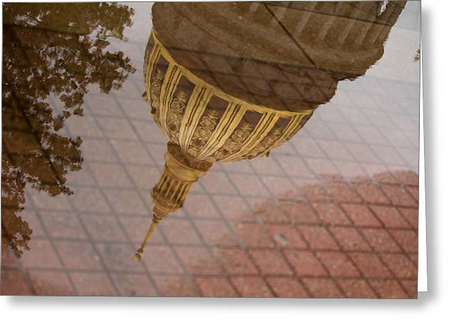 West Virginia Greeting Cards - reflection of WV Greeting Card by Shane Holsclaw
