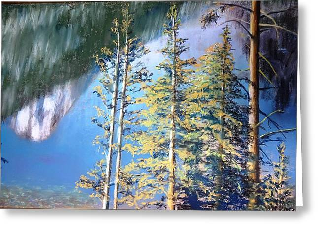 Jackson Pastels Greeting Cards - Reflection on Jenny  Greeting Card by Vincent Mancuso