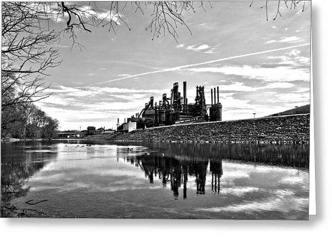 Djphoto Greeting Cards - Reflection on the Lehigh Greeting Card by DJ Florek