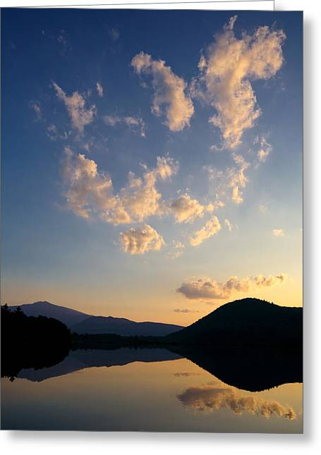 Shelburne Greeting Cards - Reflection Pond New Hampshire Greeting Card by Stephanie McDowell