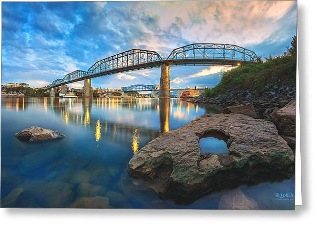 Chattanooga Greeting Cards - Reflection Rock At Low Water Greeting Card by Steven Llorca