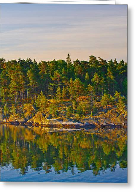 Reflections 2 Sweden Greeting Card by Marianne Campolongo