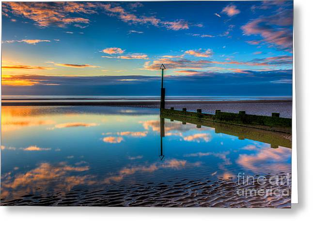 Sky Sea Greeting Cards - Reflections Greeting Card by Adrian Evans