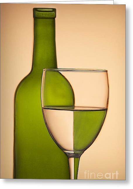 Wine Reflection Art Photographs Greeting Cards - Reflections and Refractions Greeting Card by Susan Candelario
