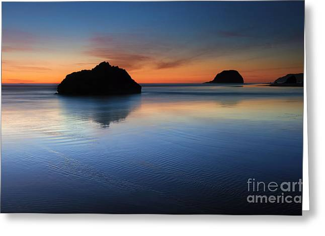 Arcadia Greeting Cards - Reflections at Dusk Greeting Card by Mike Dawson
