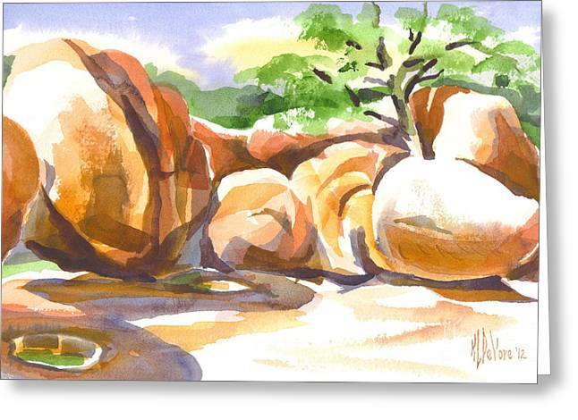 Locations Paintings Greeting Cards - Reflections at Elephant Rocks Greeting Card by Kip DeVore