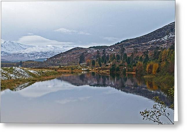 Highlands Of Scotland Greeting Cards - Reflections At Loch Laggan Greeting Card by Gill Billington
