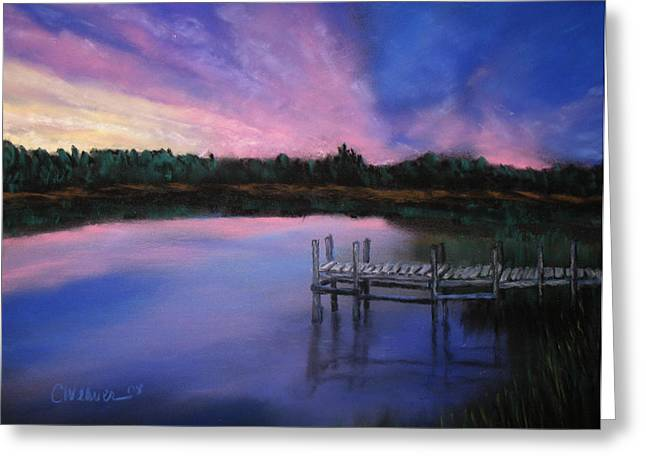 Dock Pastels Greeting Cards - Reflections Greeting Card by Cathy Weaver