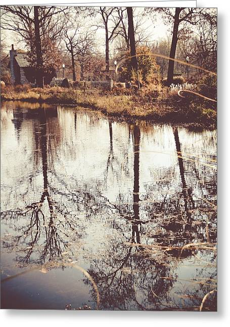 Fall Photos Mixed Media Greeting Cards - Reflections  Greeting Card by Connie Dye