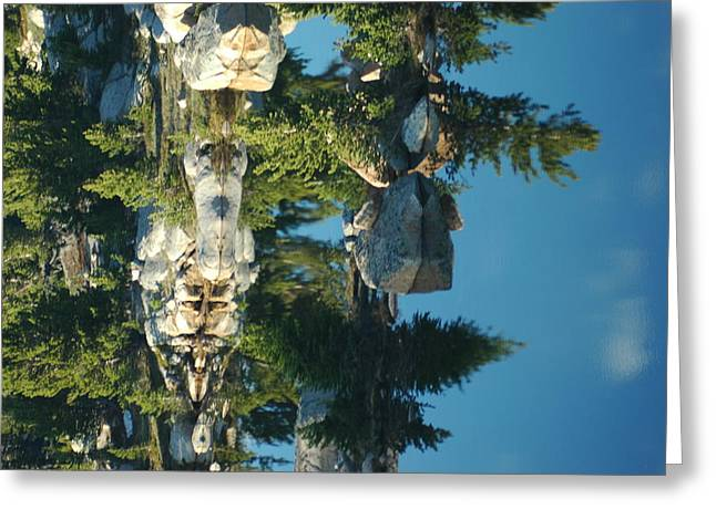 Reflections From Beartooth Highway Greeting Card by Larry Moloney
