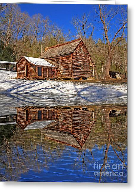Reflections Greeting Card by Geraldine DeBoer