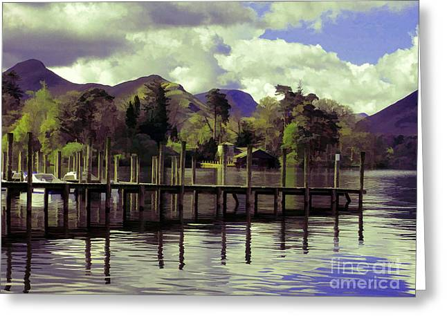 Jetty View Park Greeting Cards - Reflections Greeting Card by Gillian Singleton
