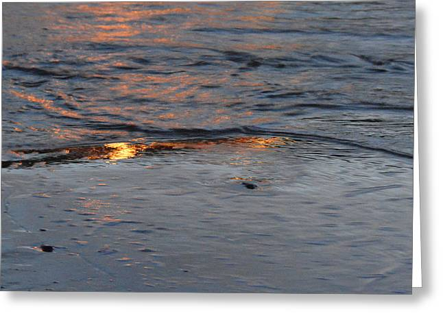 Sunset Abstract Greeting Cards - Reflections ii Greeting Card by Paul Davenport