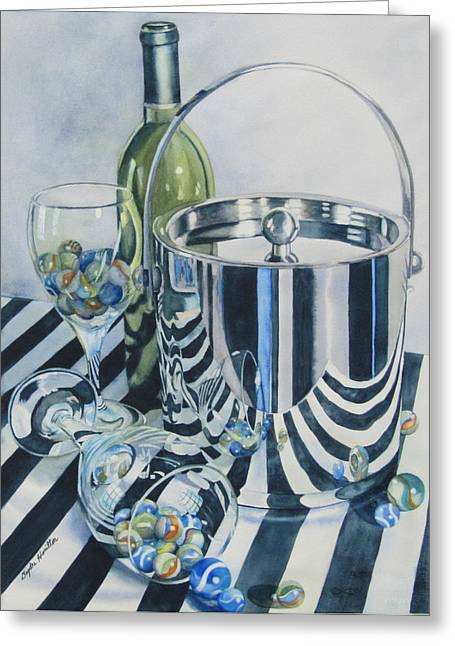 Buckets Of Paint Greeting Cards - Reflections Ill Greeting Card by Daydre Hamilton