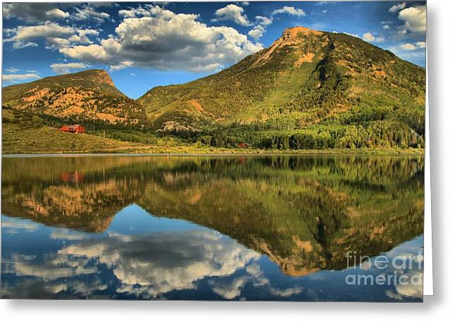 Reflections In Beaver Lake Greeting Card by Adam Jewell