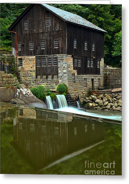 Mcconnells Mill Greeting Cards - Reflections In Rock Creek Greeting Card by Adam Jewell