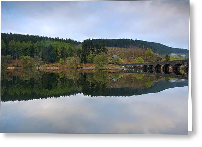 Wales Framed Prints Greeting Cards - Reflections in the Elan Valley Greeting Card by Stephen Taylor