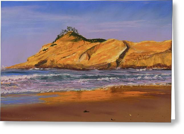 Surf Pastels Greeting Cards - Reflections in the Sand Greeting Card by Sue Lewis
