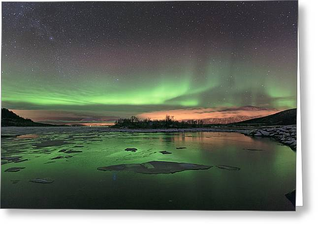 Reflections in the sea Greeting Card by Frank Olsen