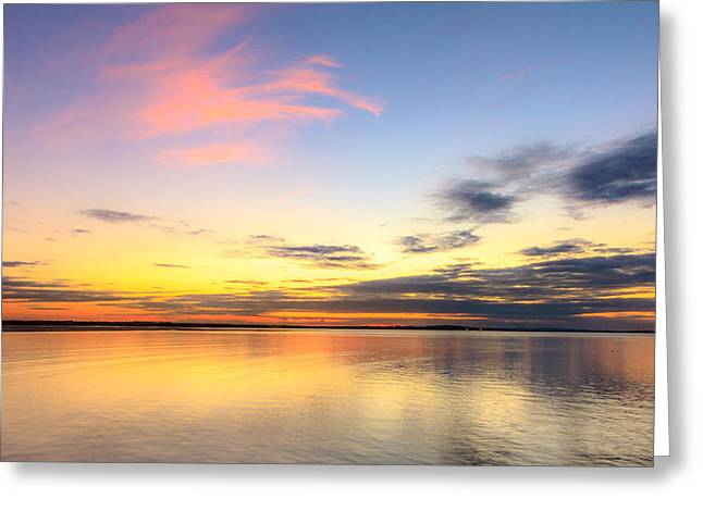 Sunset Prints Of Ireland Greeting Cards - Reflections  Greeting Card by John Hurley