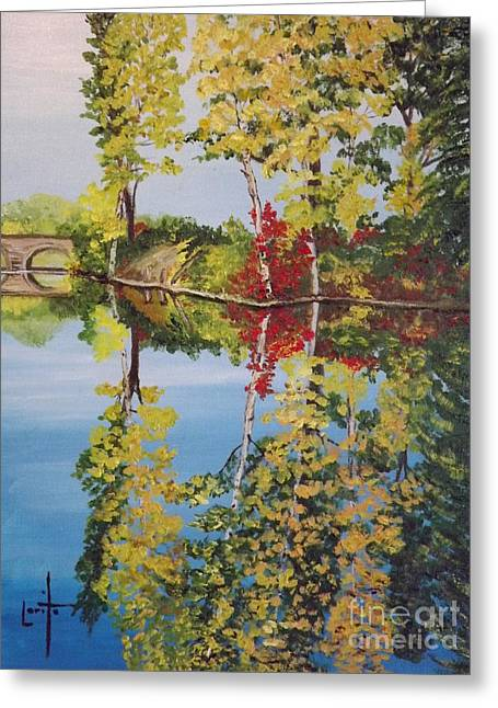 Reflections In River Greeting Cards - Reflections Greeting Card by Lorita Montgomery