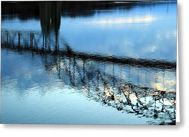 Best Selling Ocean Art Greeting Cards - Reflections Greeting Card by Matthew Grice