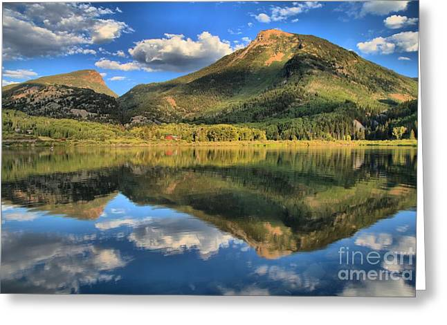 Marble Colorado Greeting Cards - Reflections Near Crystal Greeting Card by Adam Jewell