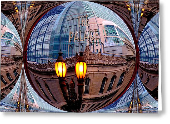 Downtown San Francisco Greeting Cards - Reflections Greeting Card by Nick David