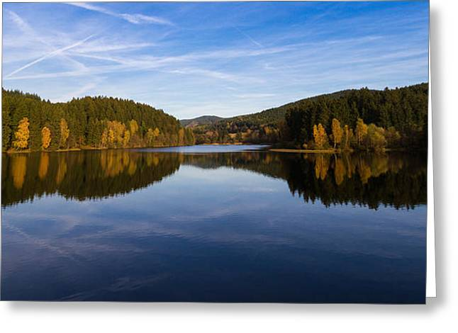 Wandern Greeting Cards - Reflections of Autumn Greeting Card by Andreas Levi