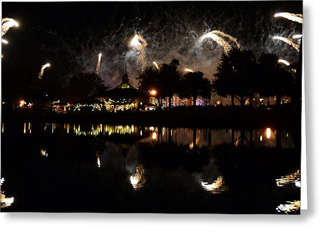 World Showcase Greeting Cards - Reflections of Epcot Greeting Card by David Lee Thompson