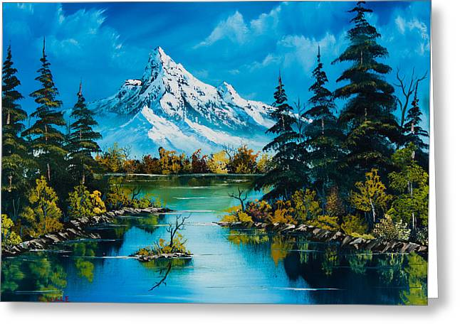 Bob Ross Paintings Greeting Cards - Reflections of Fall Greeting Card by C Steele