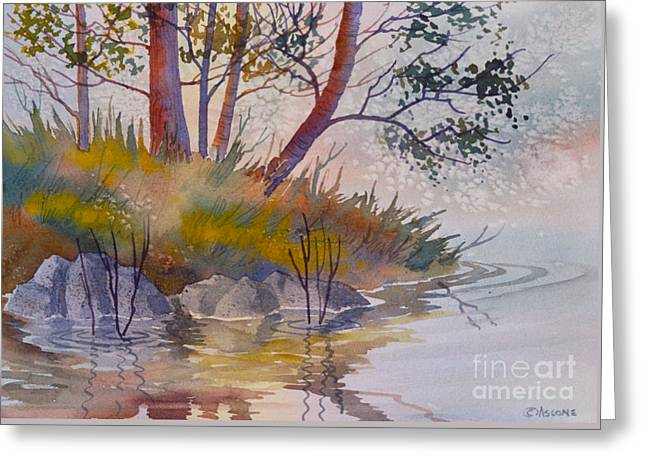 Sienna Greeting Cards - Reflections of Forest Greeting Card by Teresa Ascone