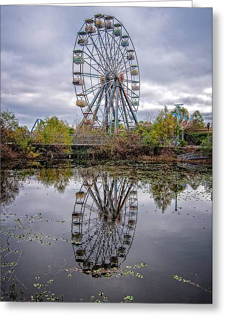 Jazzland Greeting Cards - Reflections of fun Greeting Card by Andy Crawford