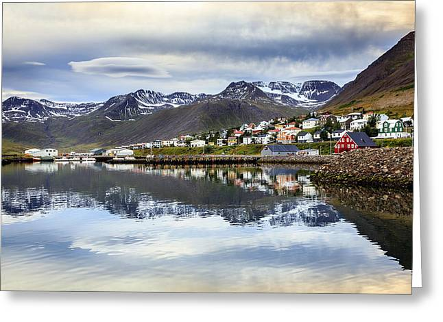 Fishing House Greeting Cards - Reflections of Iceland Greeting Card by Alexey Stiop