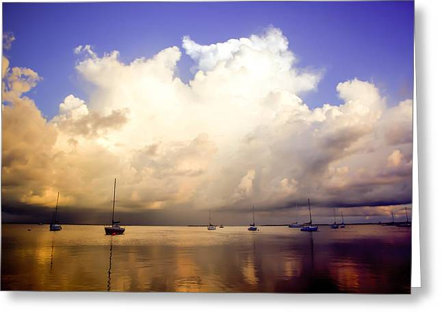 Reflections Of Key Largo Greeting Card by Karen Wiles