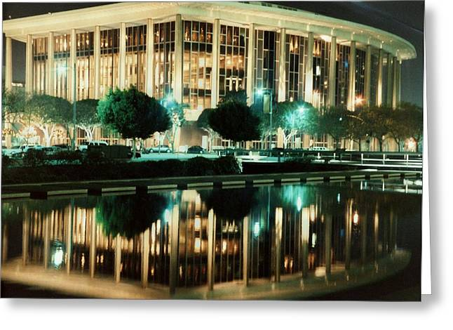Dorothy Pond Greeting Cards - Reflections of L.A. Music Center Greeting Card by Maggie  Cabral